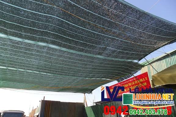 Cung cấp 400m2 lưới che nắng mái tôn cho chị Yến